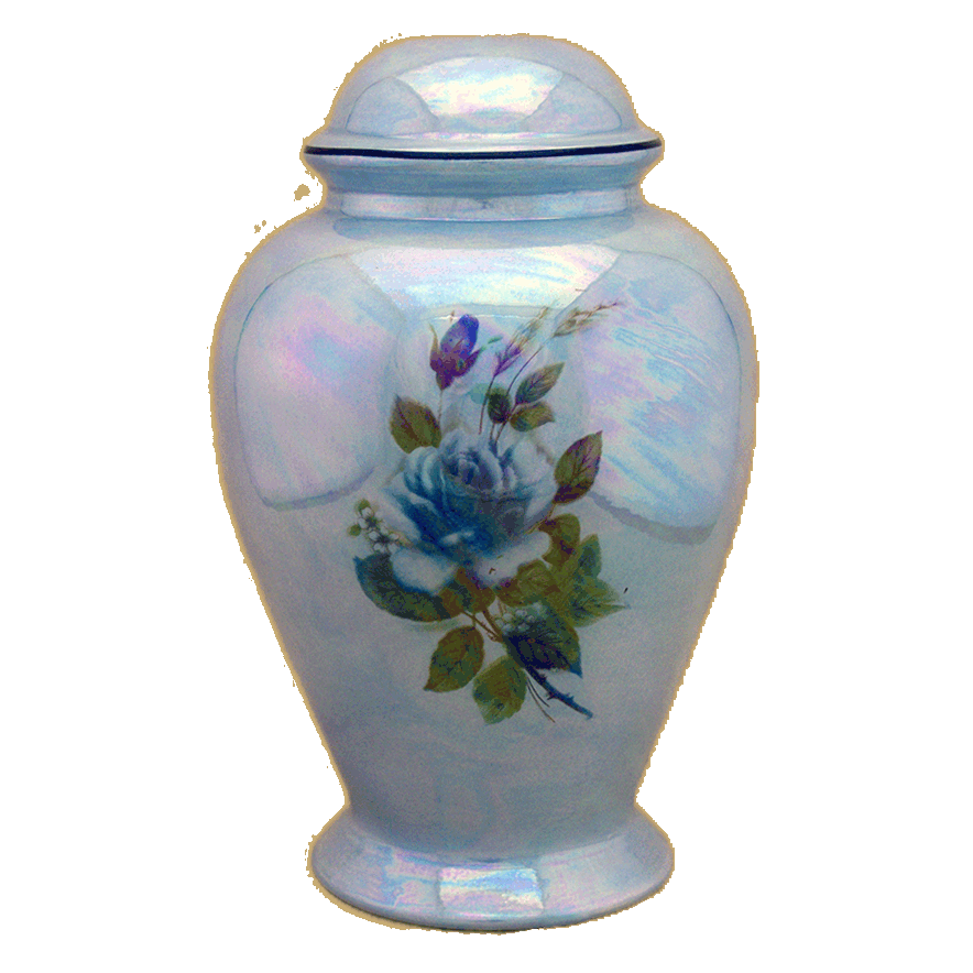 darlene-infant-urn-blue-w-blue-rose