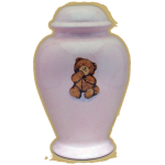 Single Teddy Bear Pink Infant Urn