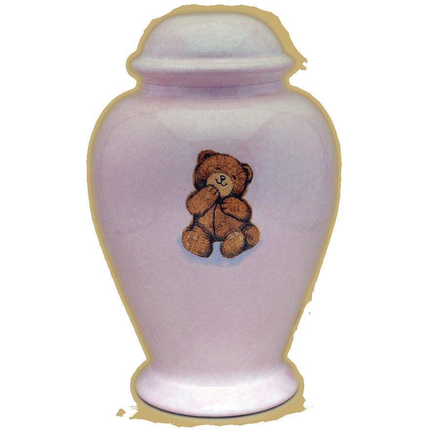 single-teddy-bear-pink-infant-urn